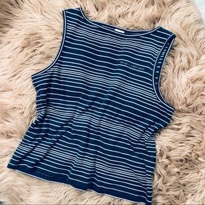 Calvin Klein blue striped tank